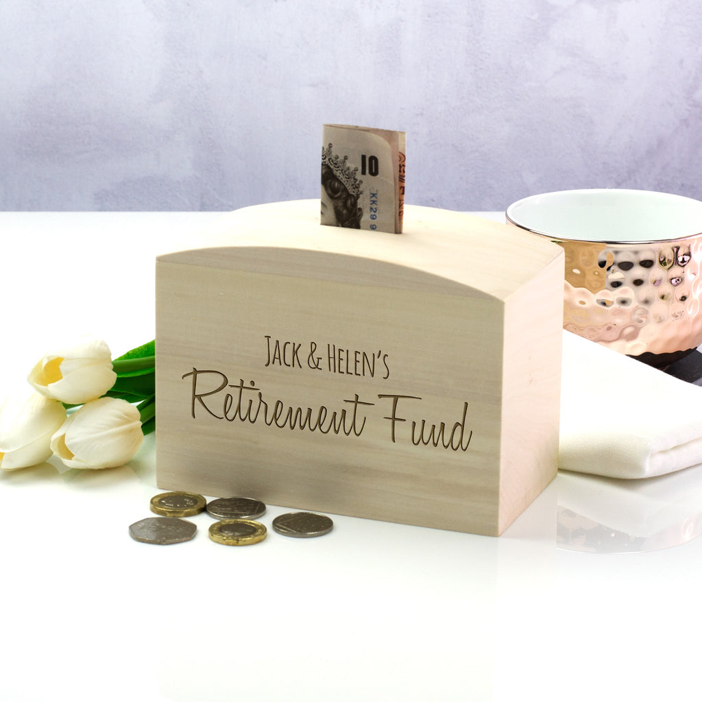 Personalised Retirement Fund Money Box