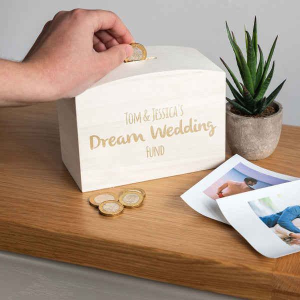 Personalised Dream Wedding Fund Money Box