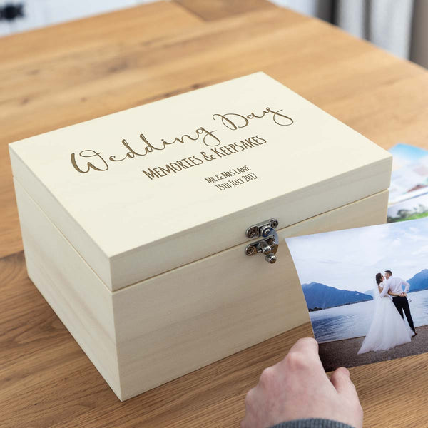Personalised Wedding Day Keepsakes Box