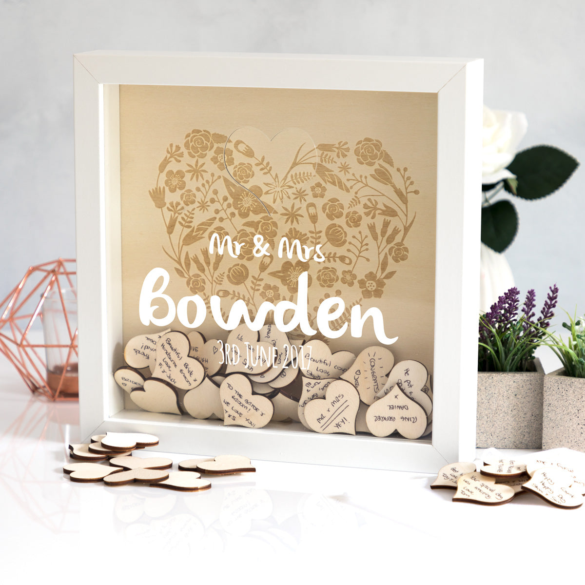 Personalised Wedding Guest Book Frame