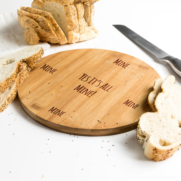 Round Bamboo Serving Board Gift