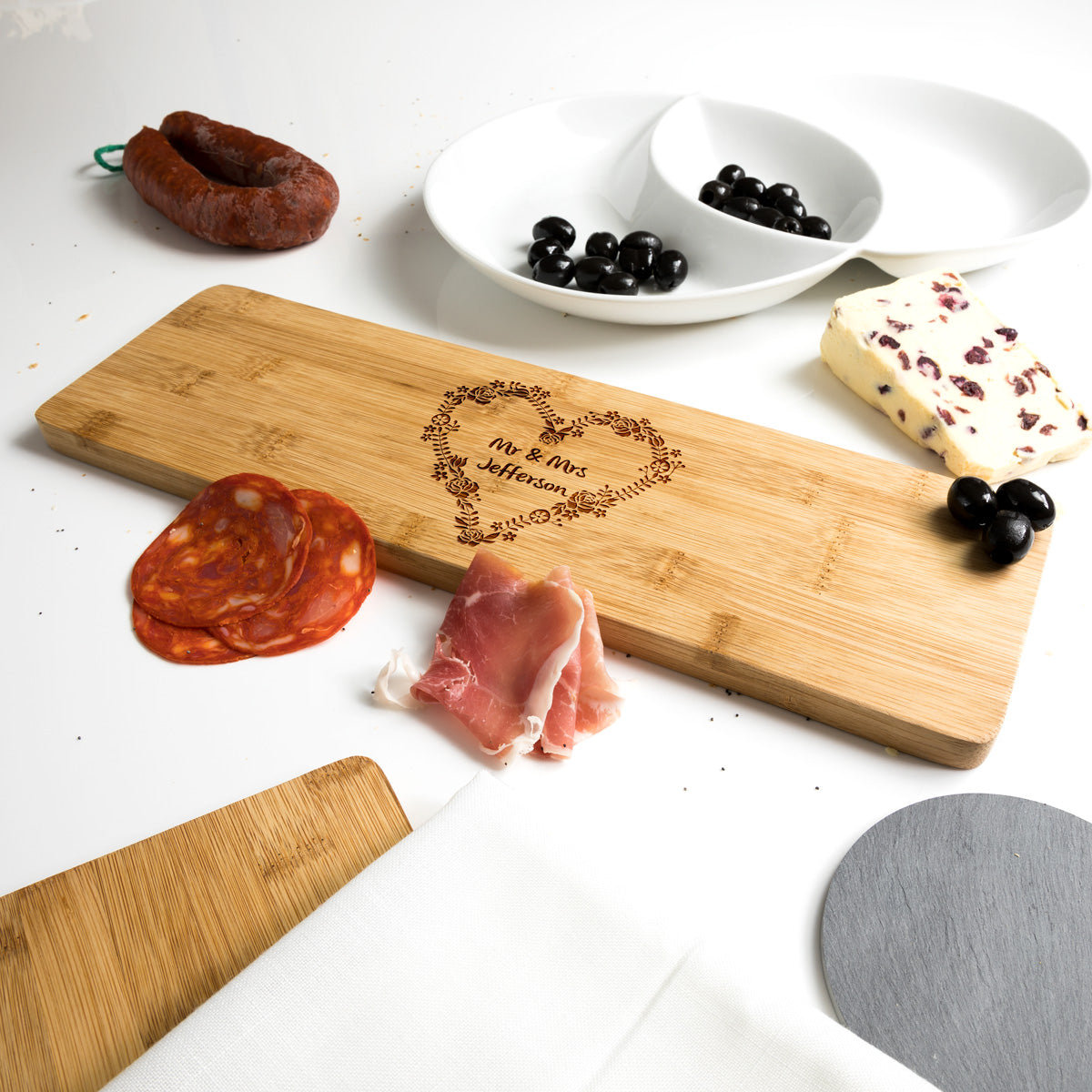 Personalised Wedding Gift Bamboo Serving Board