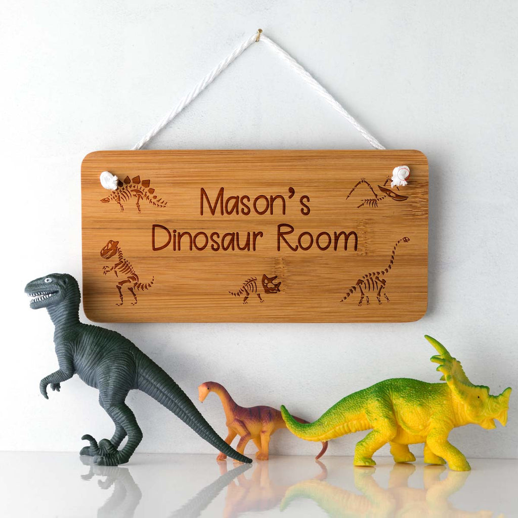 Personalised Dinosaur Bedroom Door Sign