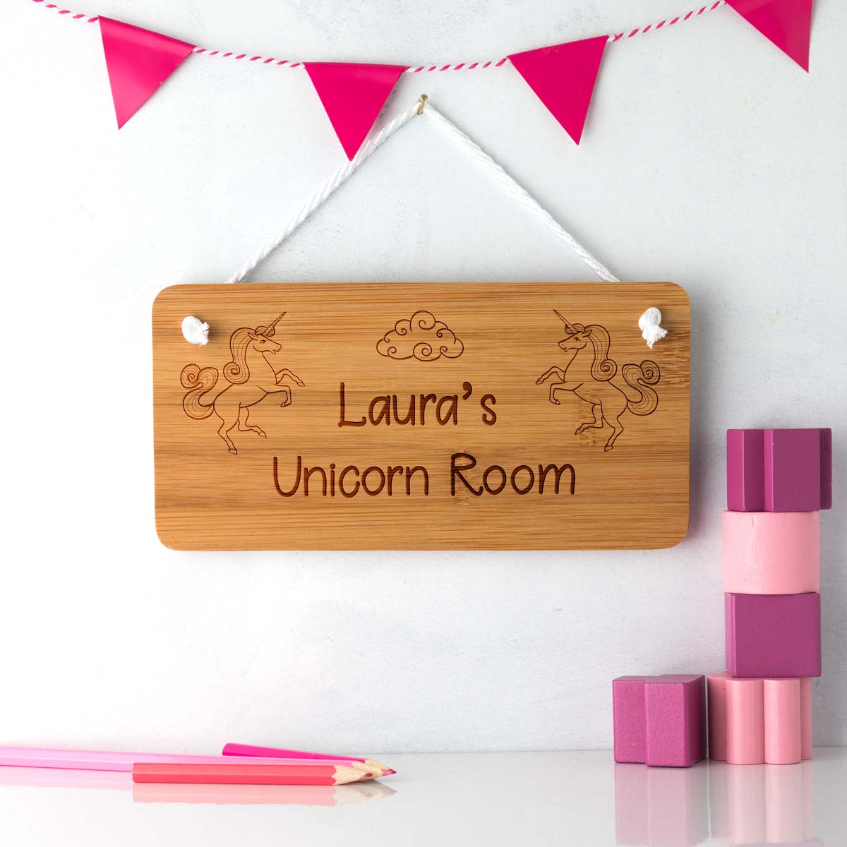 Personalised Unicorn Bedroom Door Sign