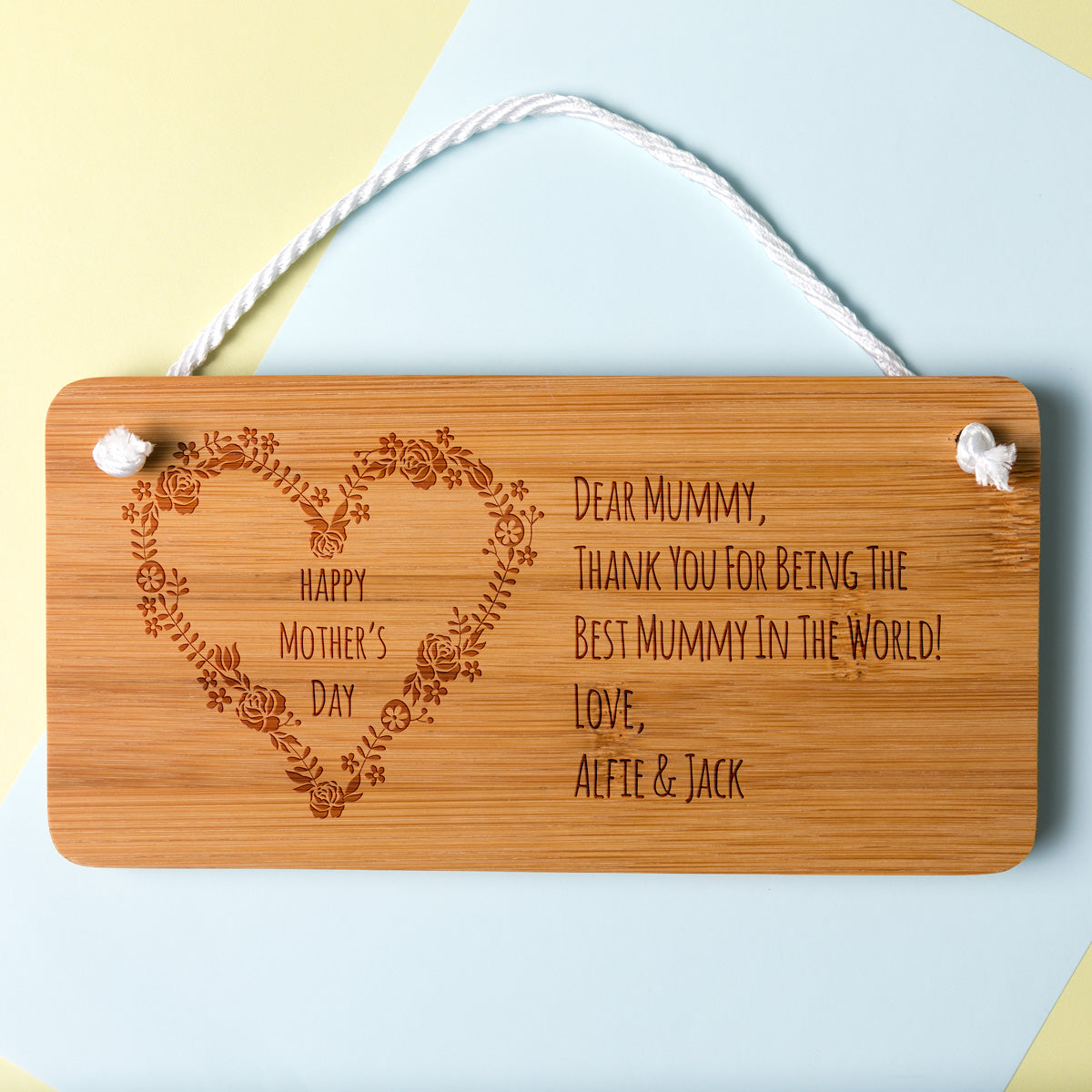 Personalised Happy Mother's Day Sign Gift