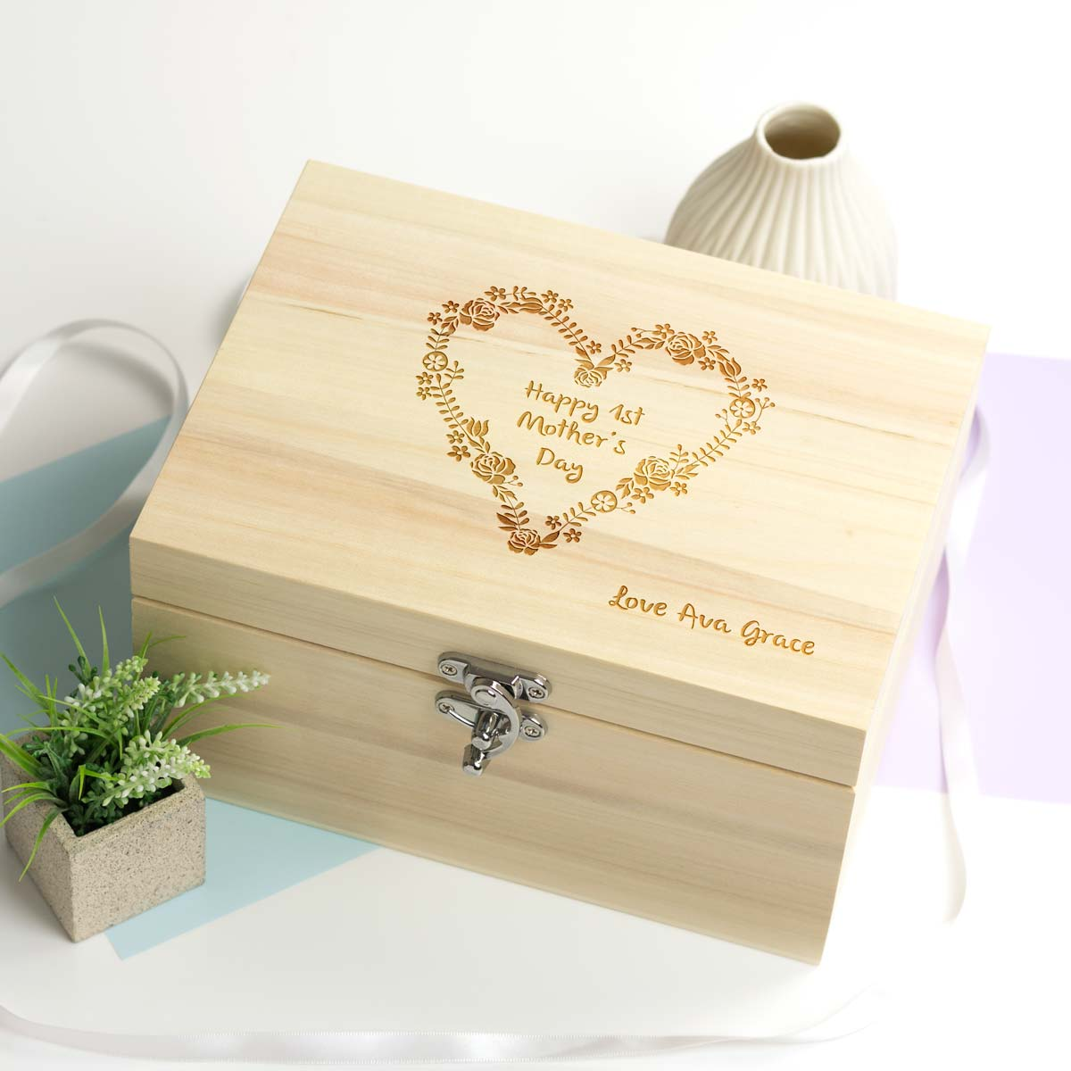 Personalised 1st Mother's Day Keepsake Box Gift