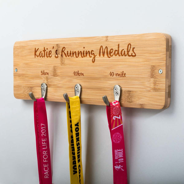 Personalised Running Medal Holder