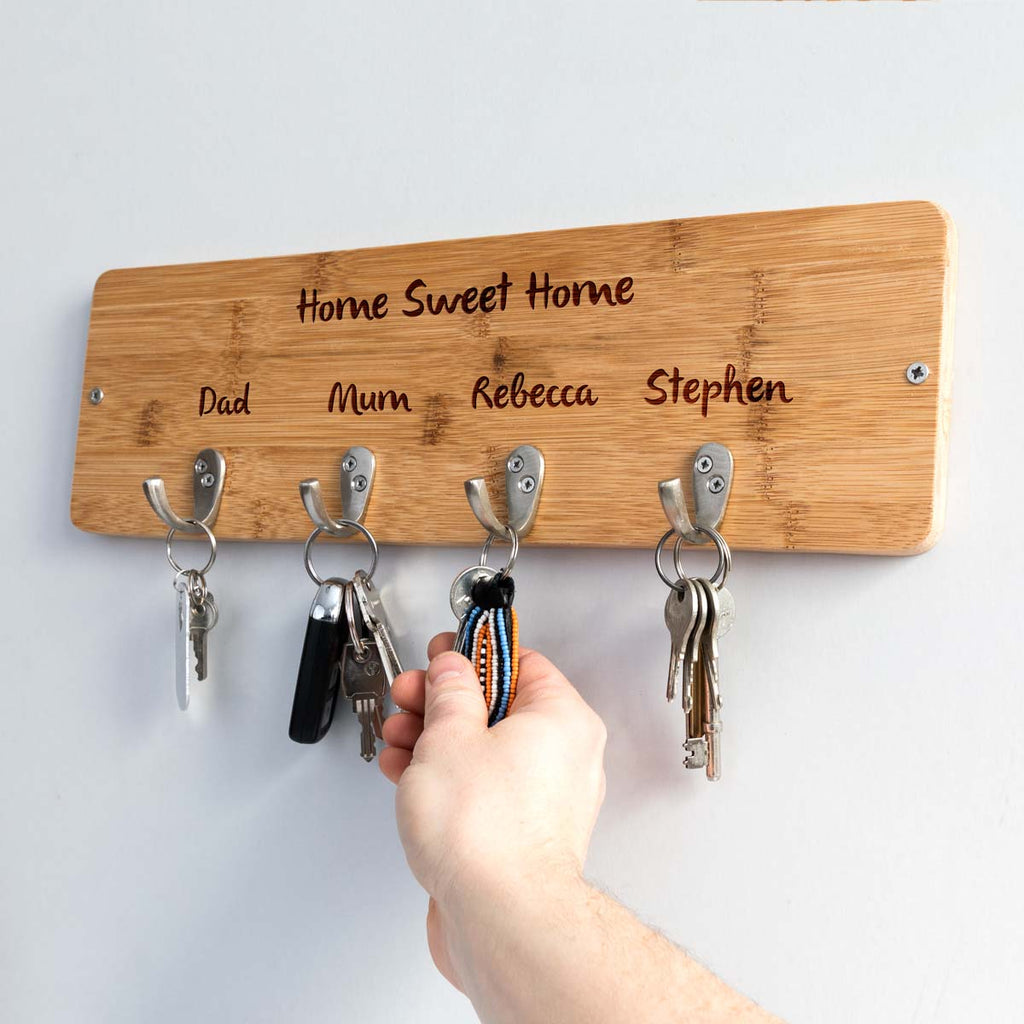 Personalised Home Sweet Home Key Hook