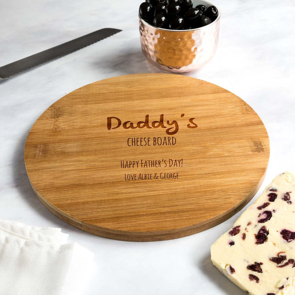 Personalised Father's Day Cheese Board