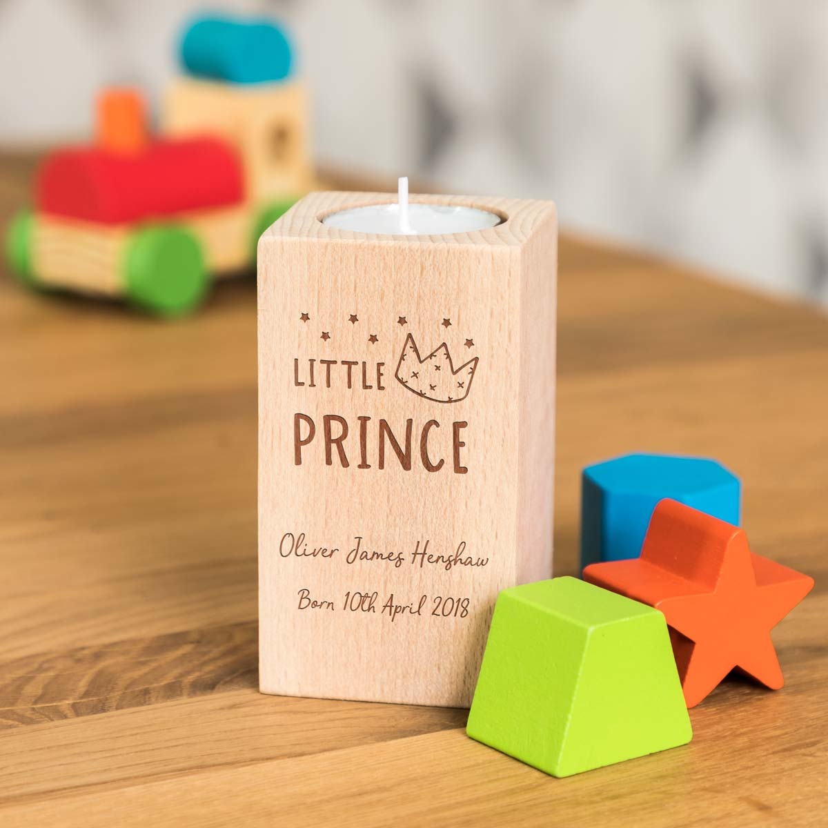 Personalised Little Prince Candle Holder Gift