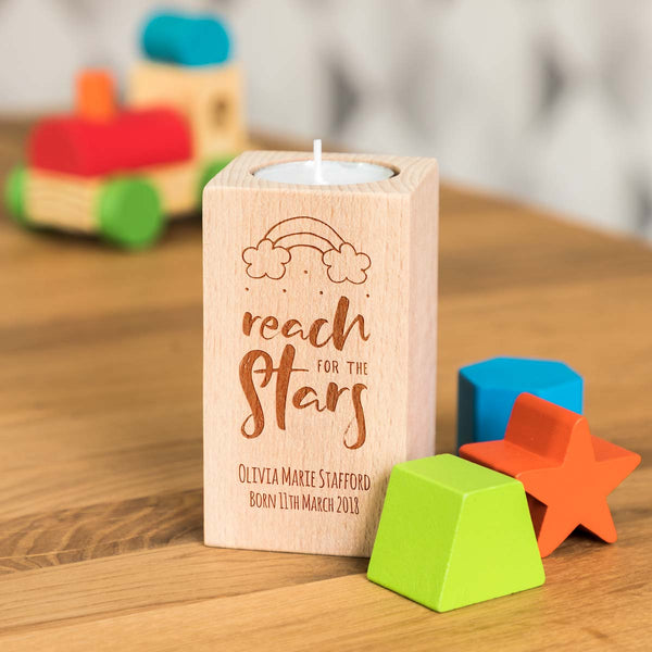 Personalised New Baby Gift Candle Holder