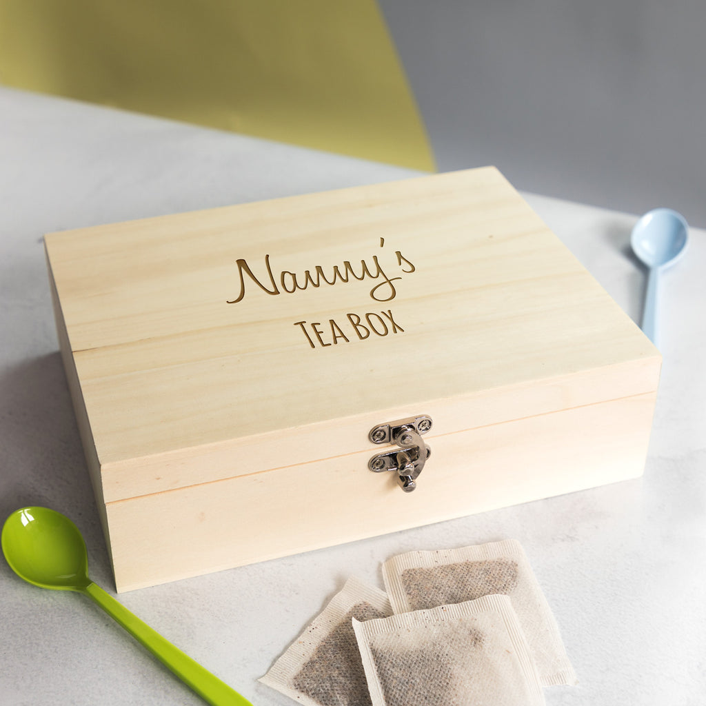 Personalised Tea Box With 6 Compartments