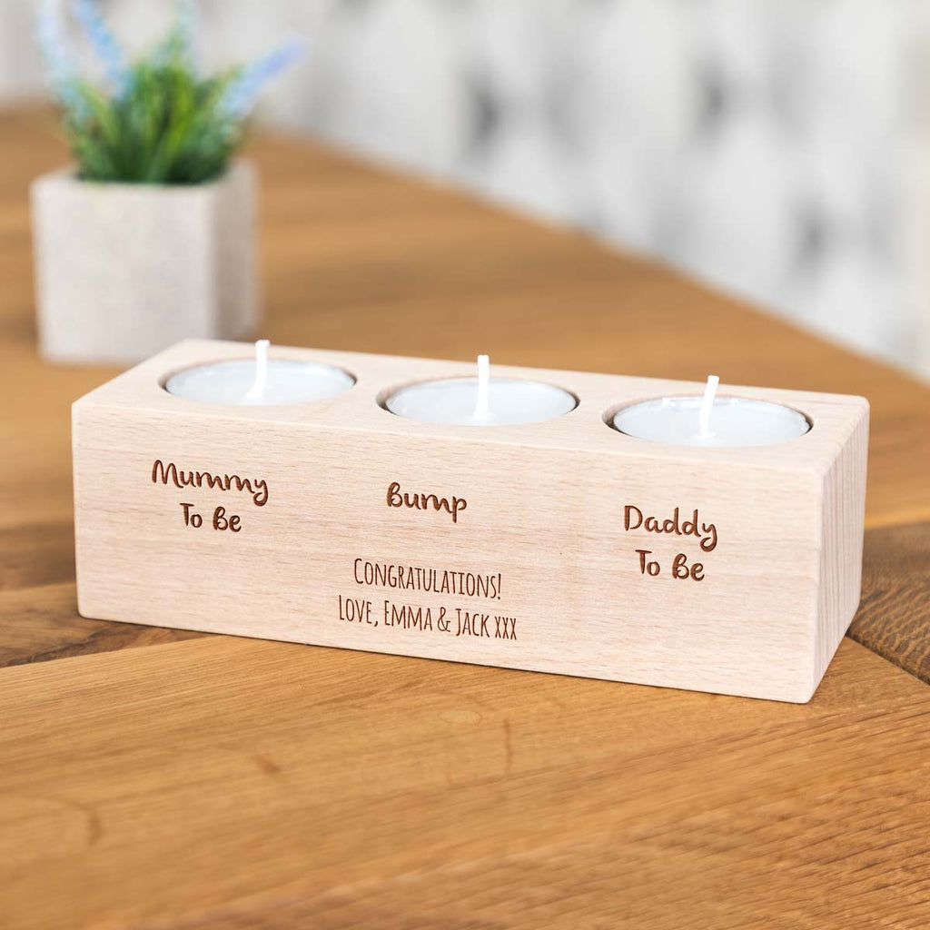 Personalised Mum To Be Gift Candle Holder
