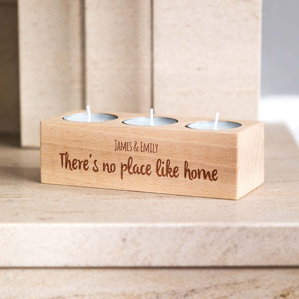 Personalised No Place Like Home Gift Candle Holder