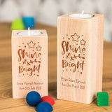 Personalised Shine Bright Candle Holder