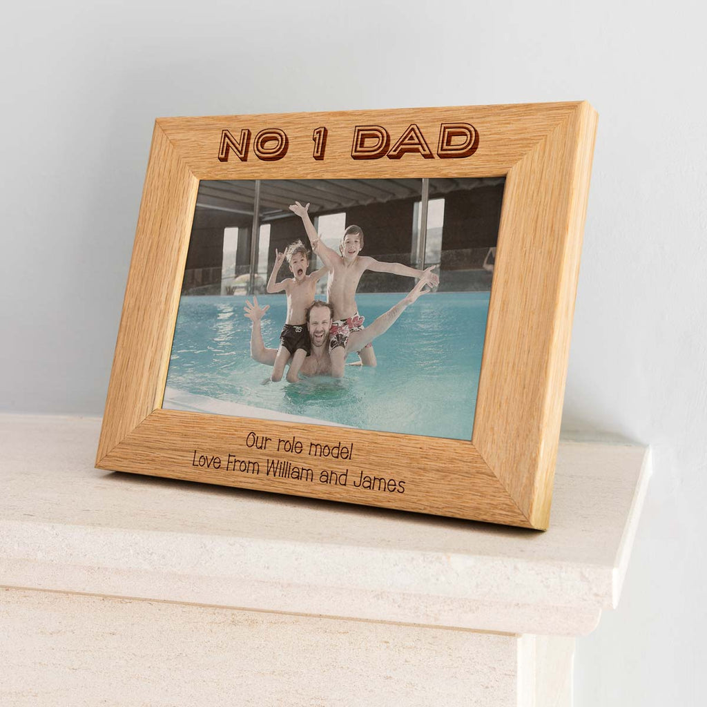 Personalised Number 1 Dad Photo Frame Gift