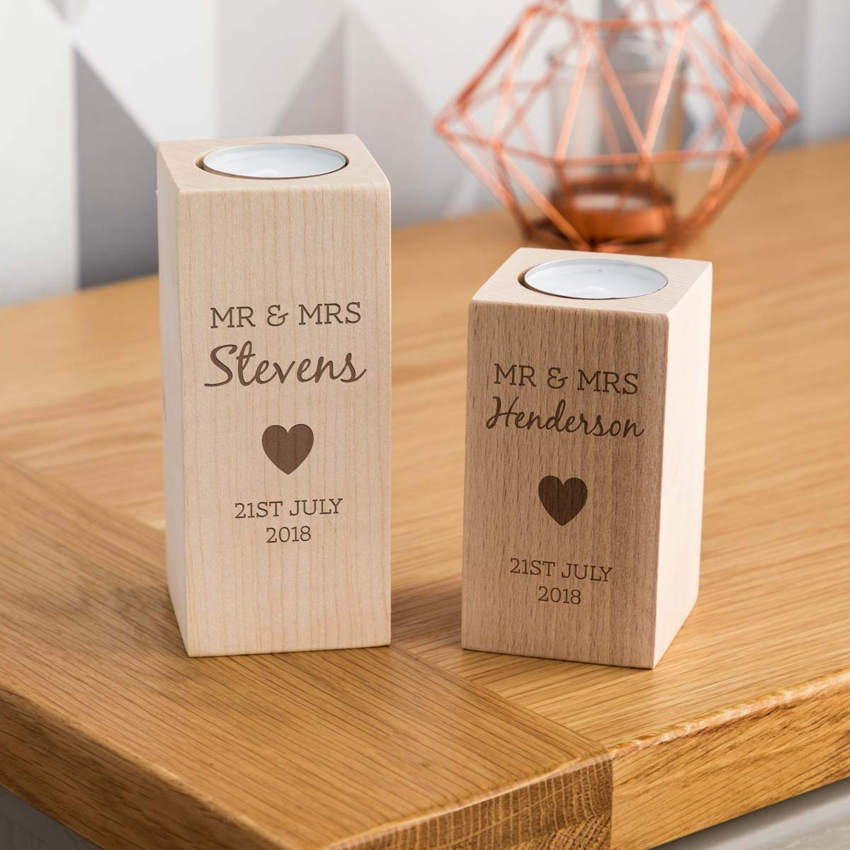 Personalised Wedding Gift Candle Holder