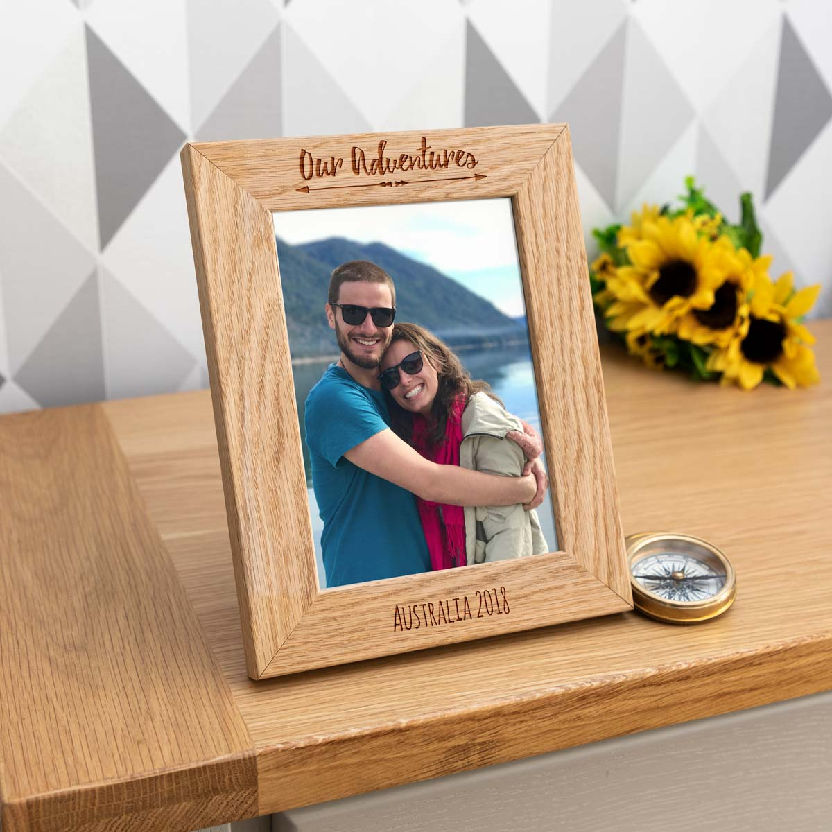 Personalised Our Adventures Photo Frame