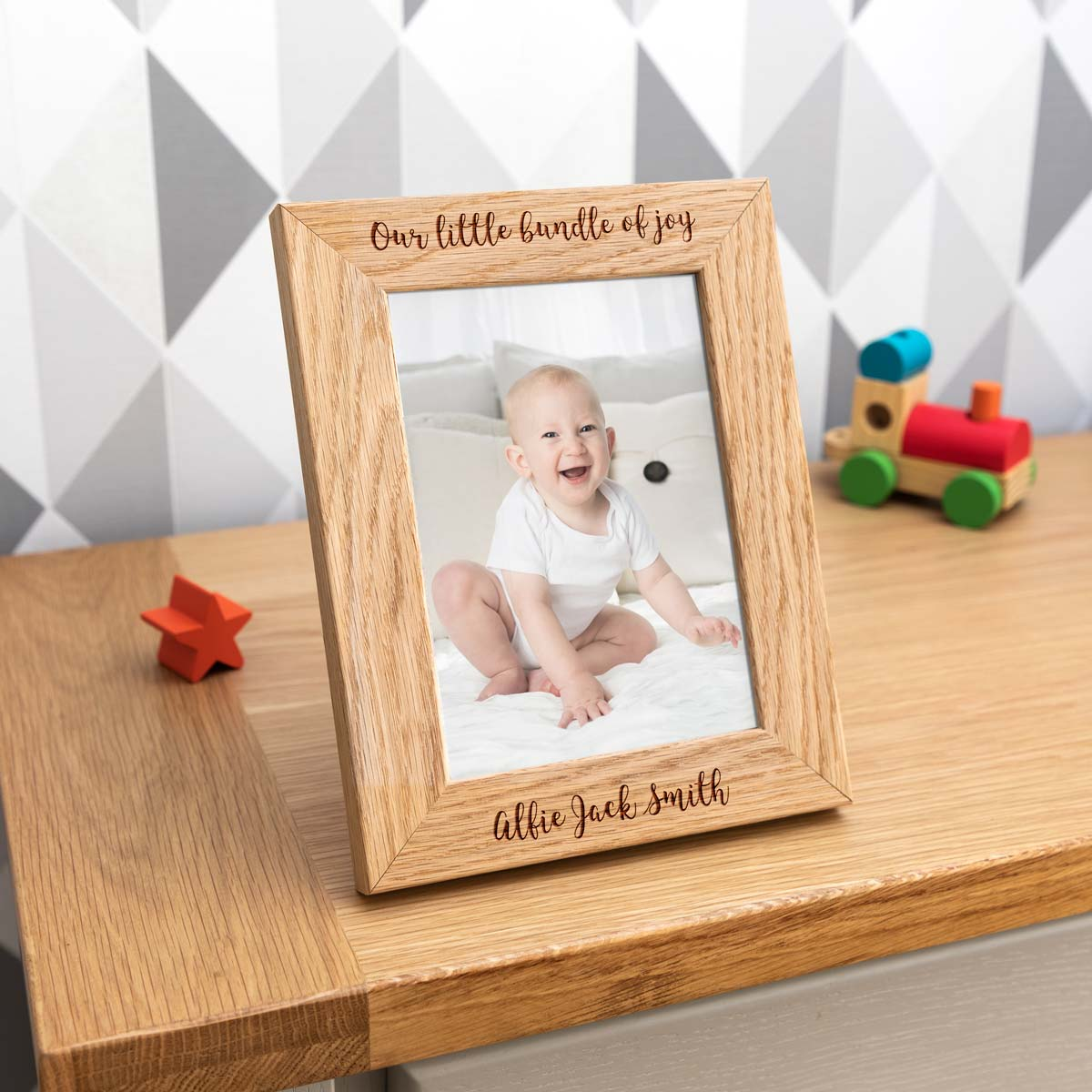 Personalised Our Little Bundle Of Joy Photo Frame New Baby Gift