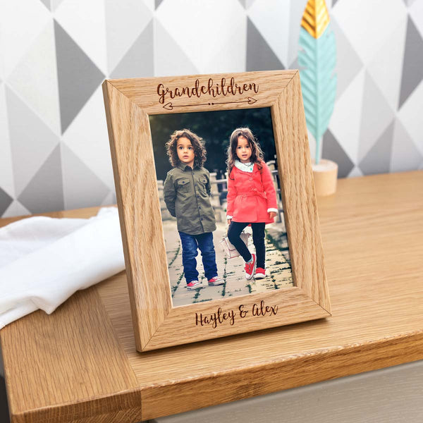 Personalised Grandchildren, Grandchild, Granddaughter or Grandson Photo Frame