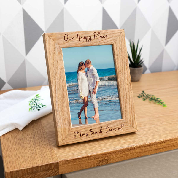 Personalised Our Happy Place Photo Frame Gift