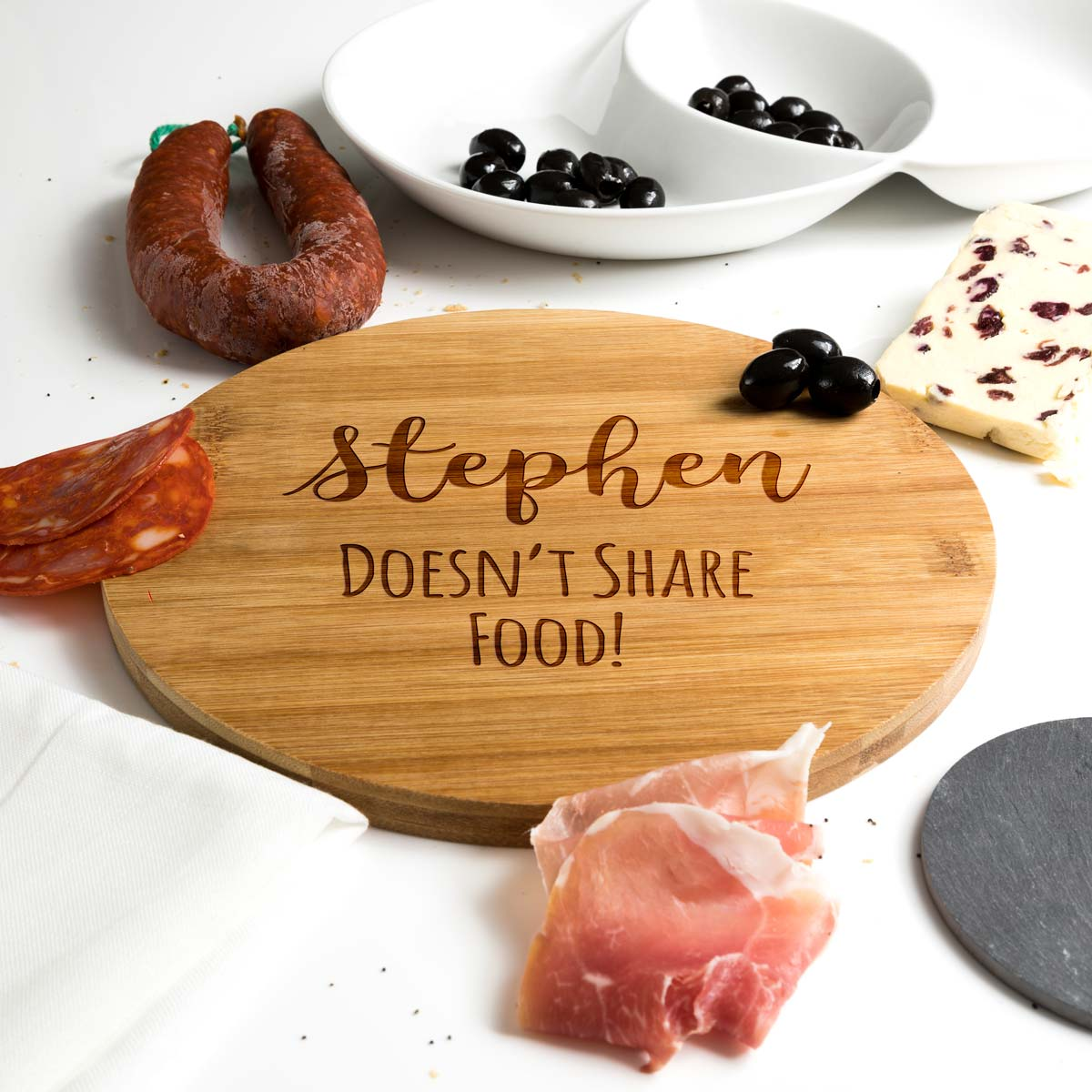 Personalised I Don't Share Food Serving Board