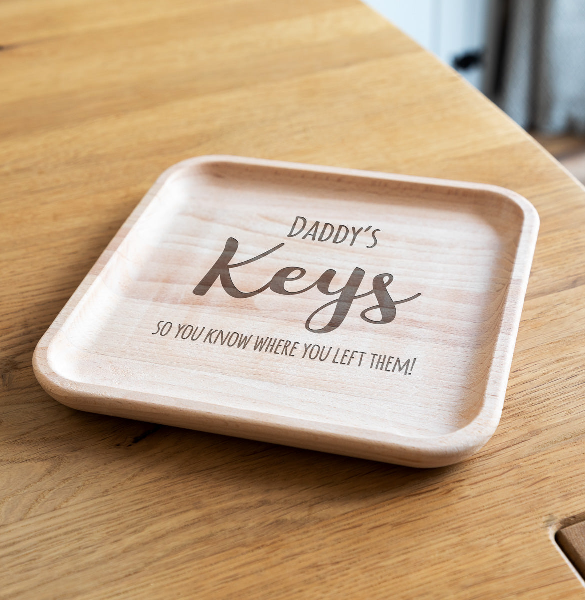 Personalised Key Tray