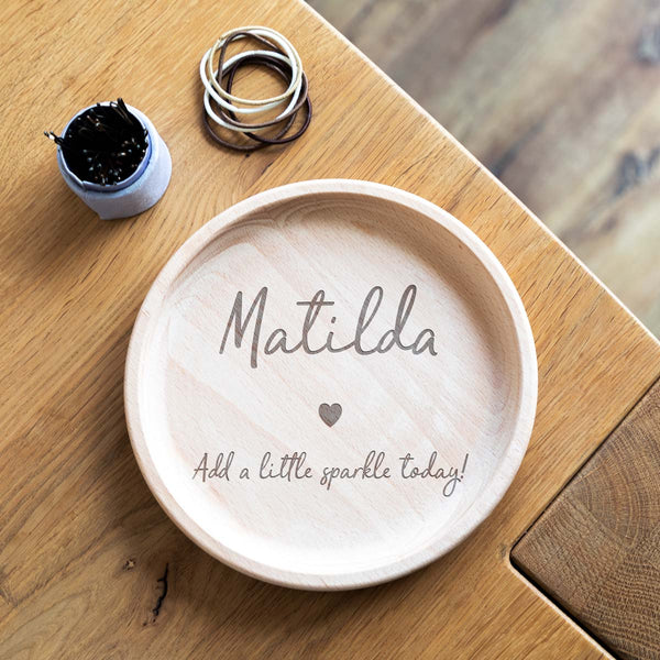 Personalised Wooden Jewellery Tray
