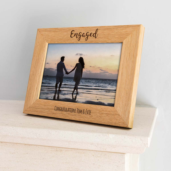 Personalised Engaged Photo Frame