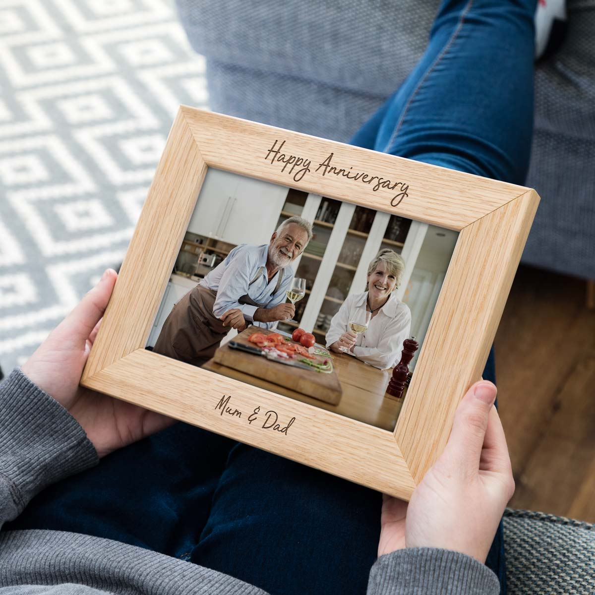 Personalised Happy Anniversary Photo Frame