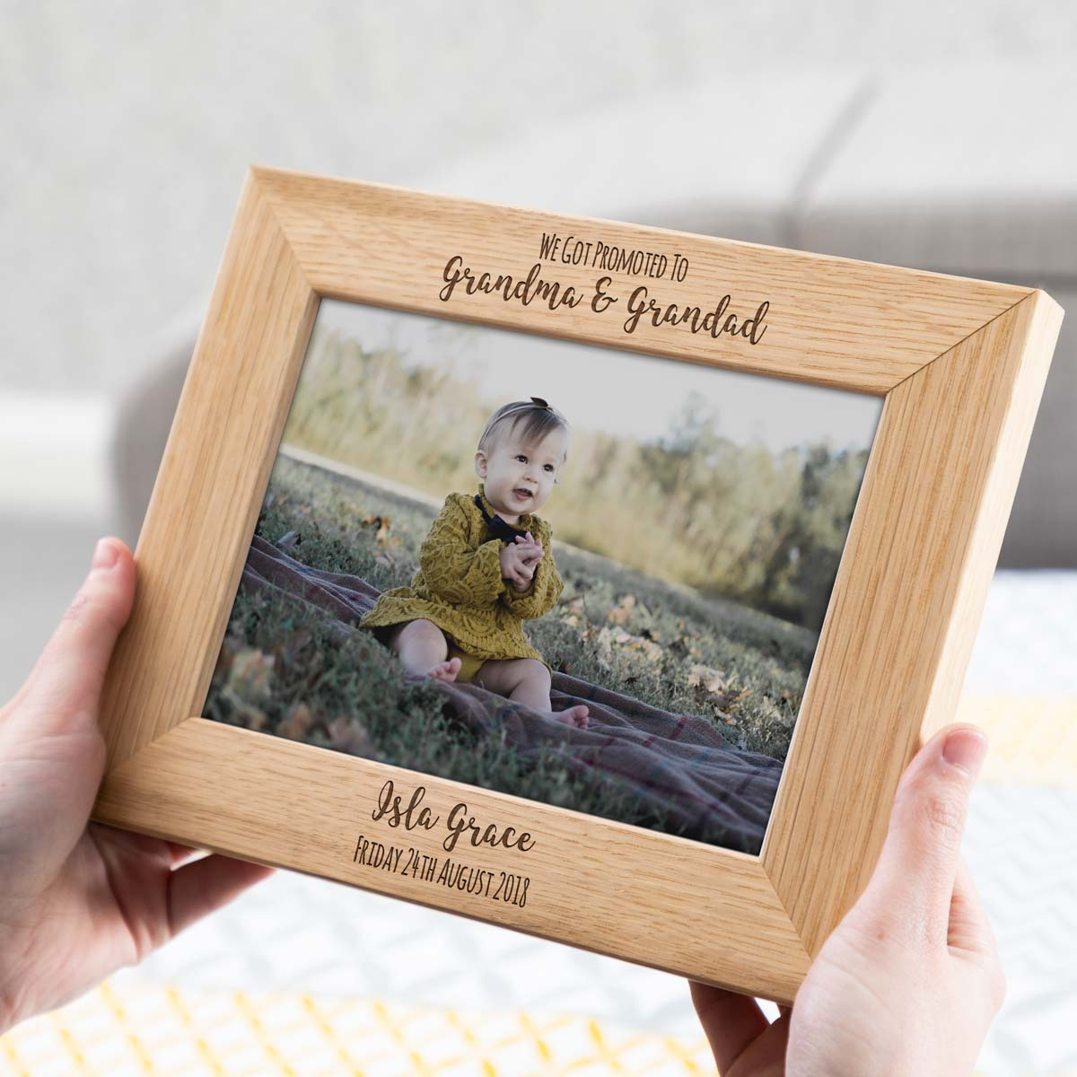 Personalised Promoted To Grandparents Photo Frame