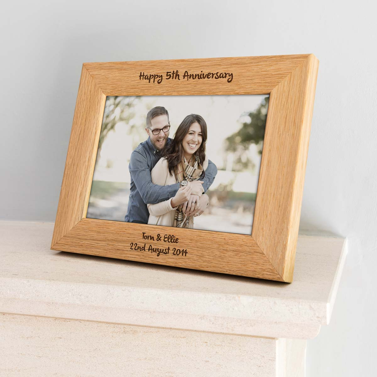 Personalised Happy 5th Anniversary Photo Frame