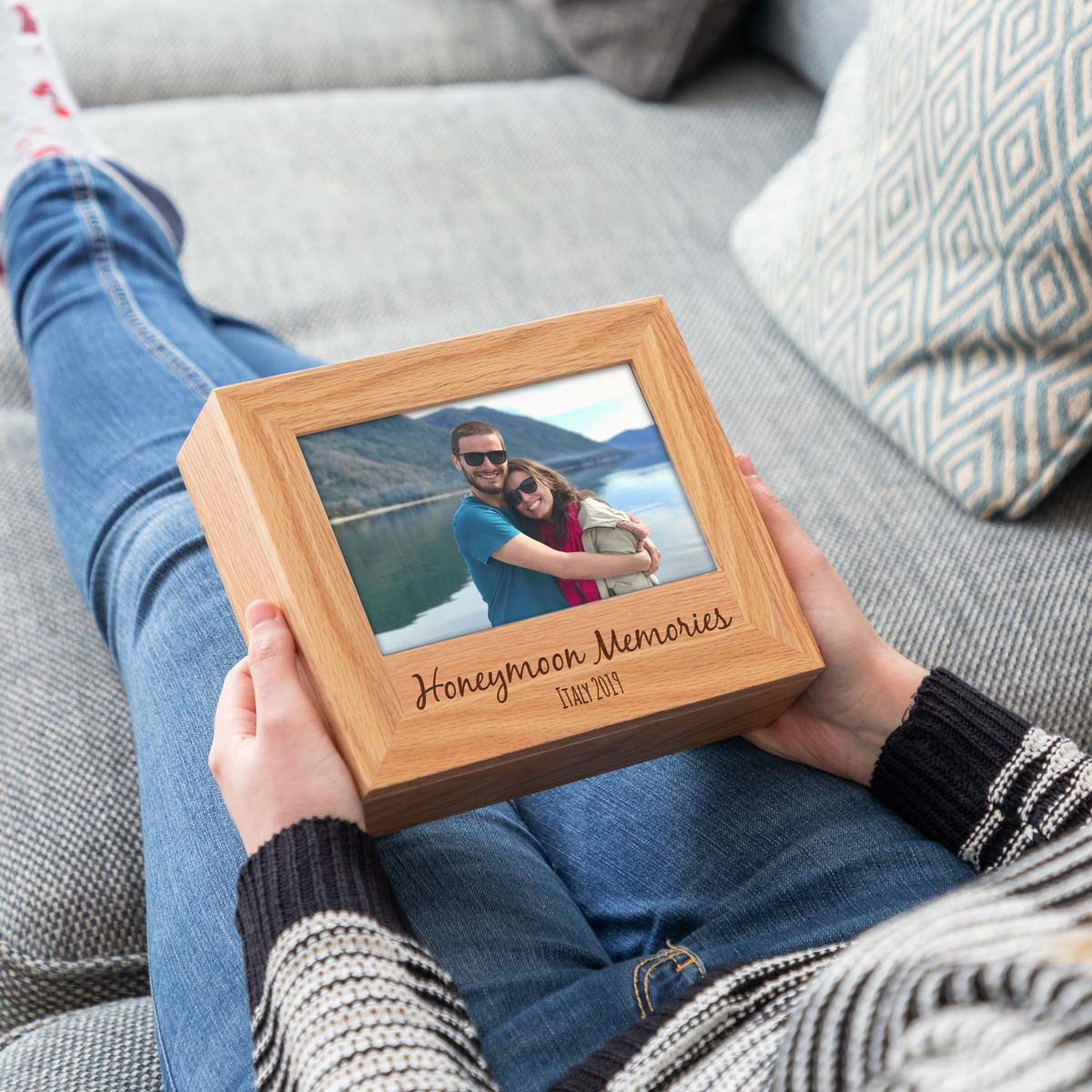 Personalised Honeymoon Photo Keepsake Box