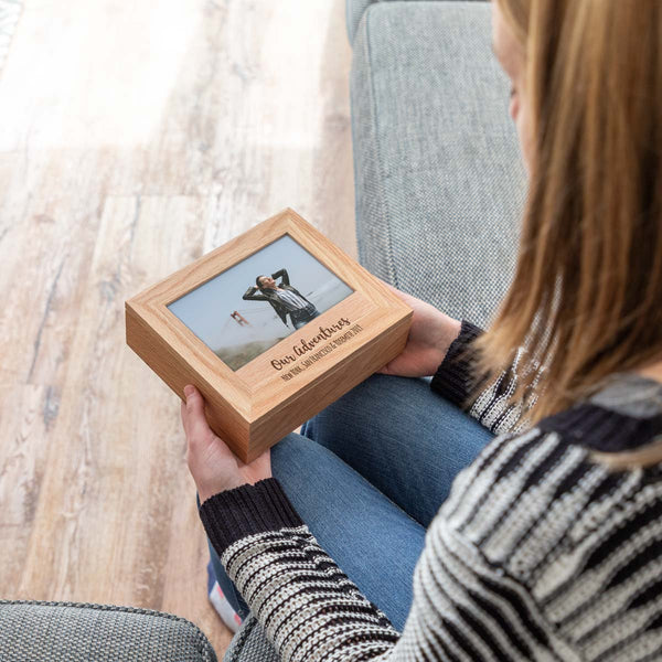 Personalised Our Adventures Photo Keepsake Box