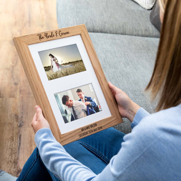 Personalised Bride and Groom Wedding Photo Frame