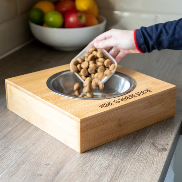 Personalised Home Is Large Pet Bowl