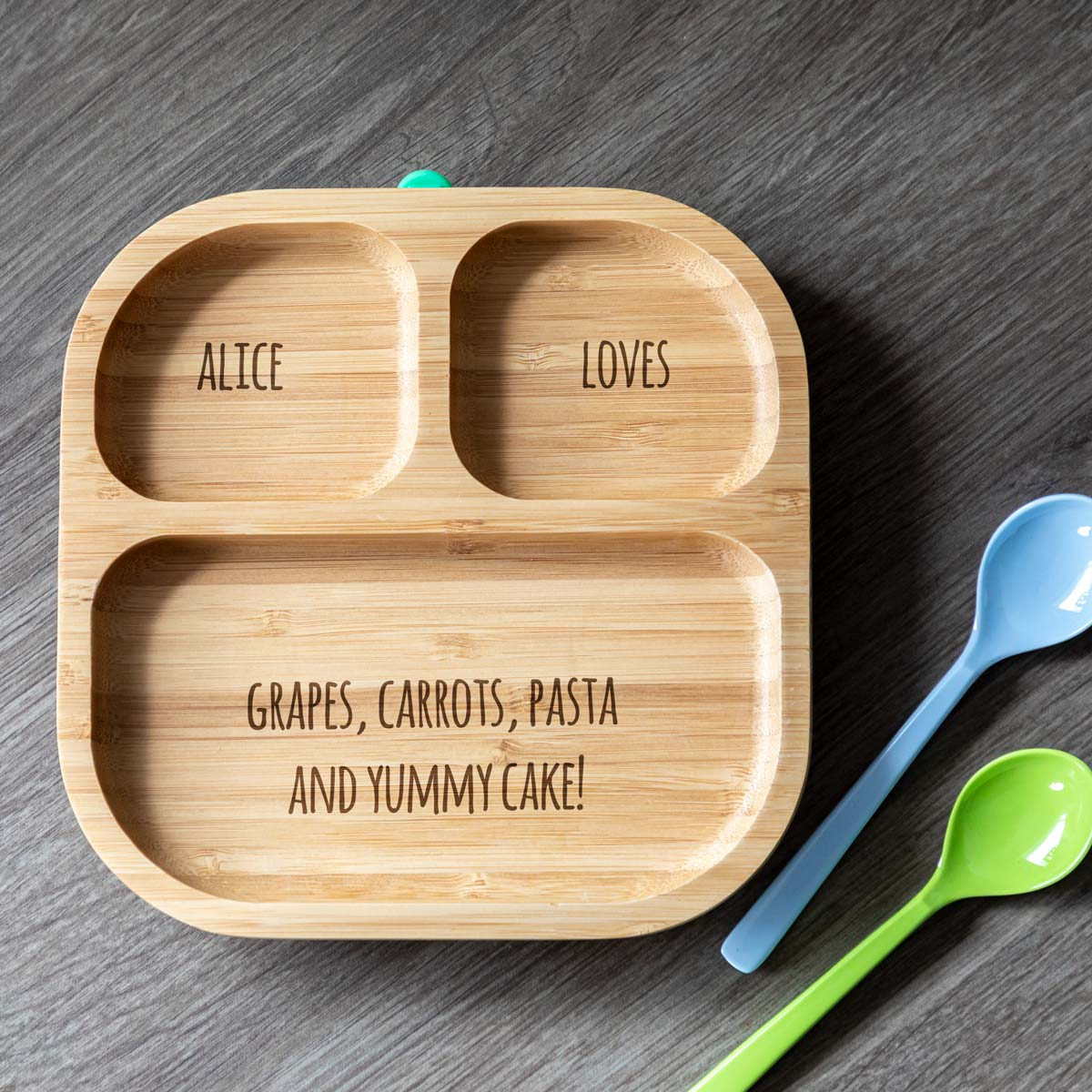 Personalised Children's Bamboo Suction Plate
