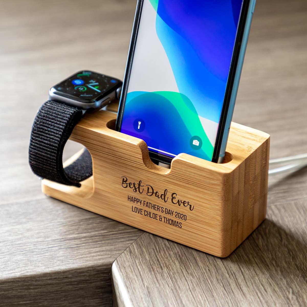 Personalised Best Dad or Mum Charging Station