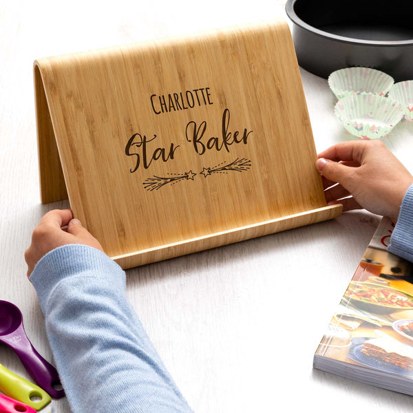 Personalised Star Baker Recipe Book Stand