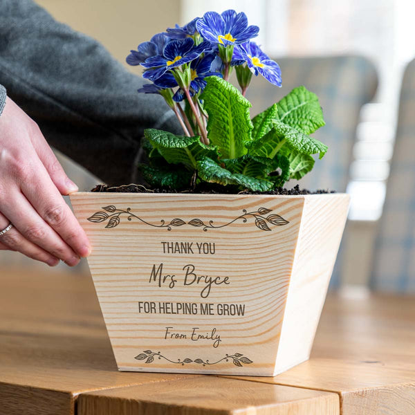 Personalised Thank You For Helping Me Grow Planter