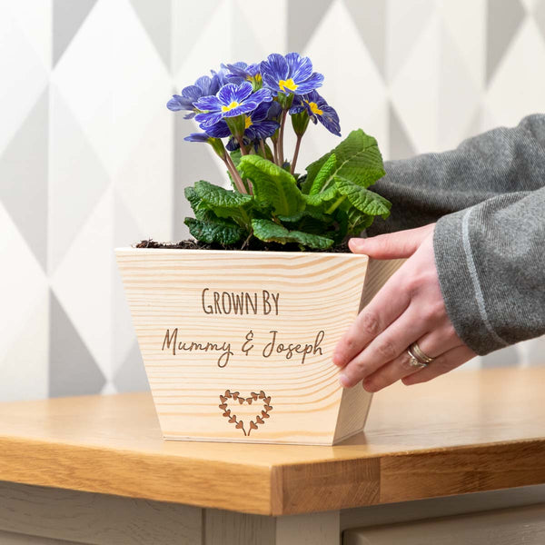 Personalised Grown By Planter
