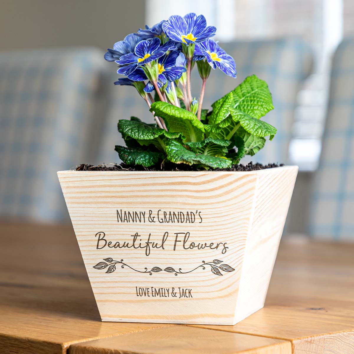Personalised Beautiful Flowers Planter