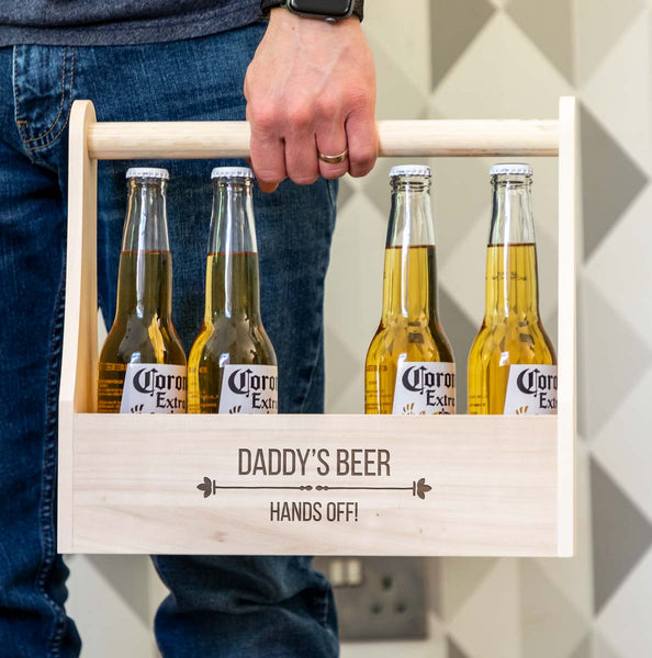 Personalised Hands Off Beer Bottle Holder