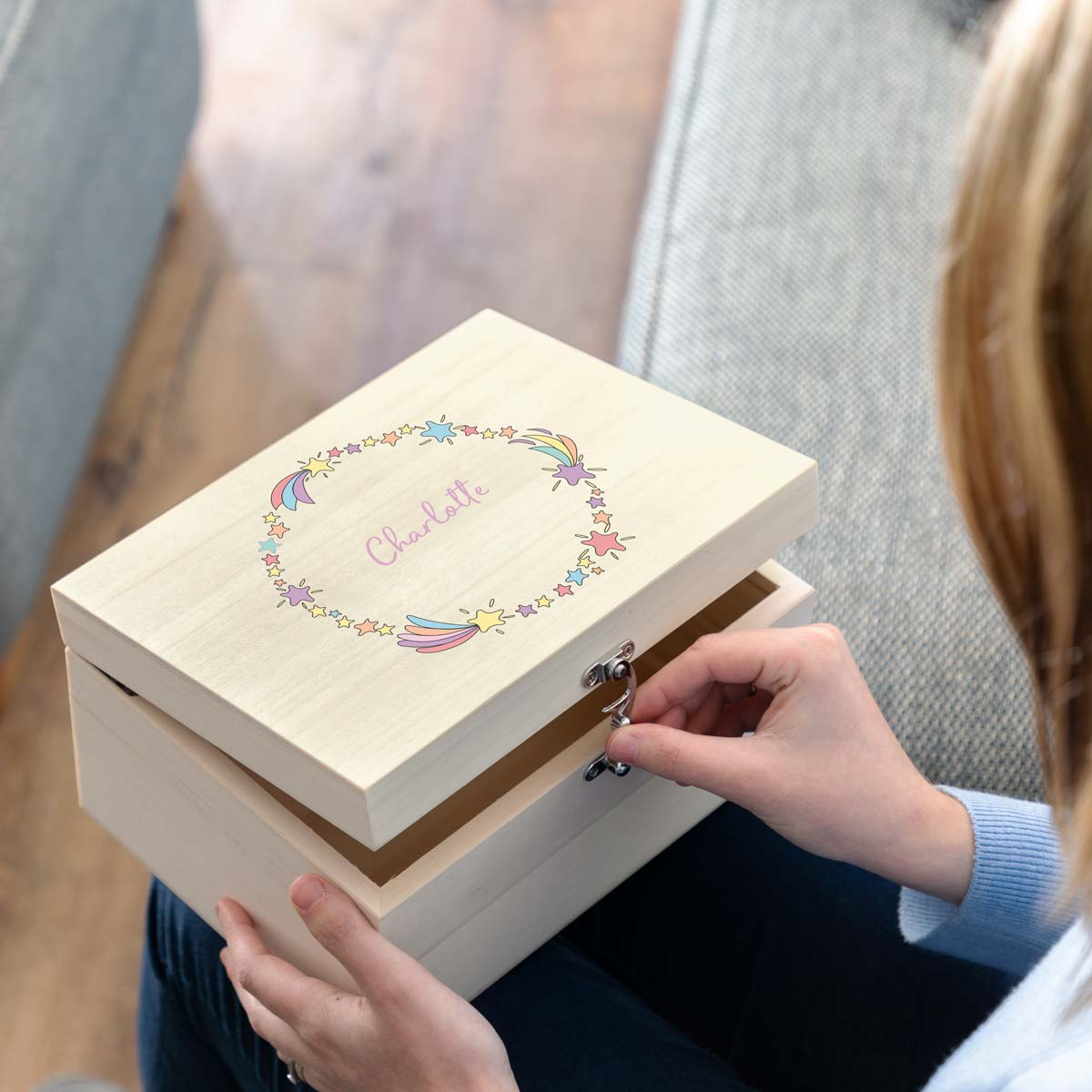 Personalised Keepsake Box For Girls