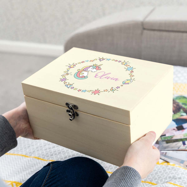 Personalised Unicorn Keepsake Box