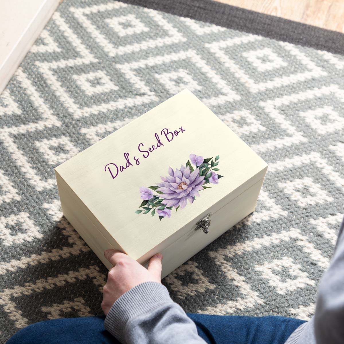 Personalised Floral Seed Box