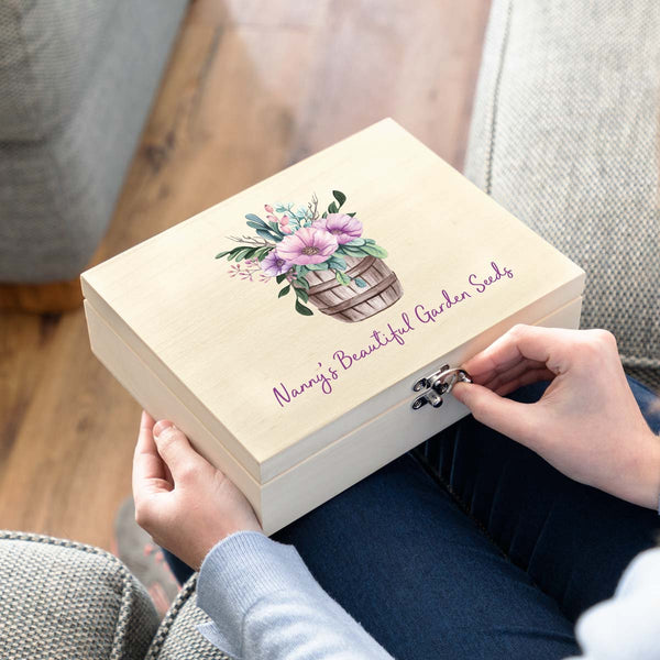 Personalised Garden Seed Box