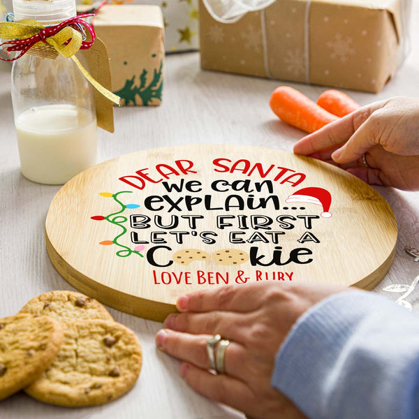 Personalised We Can Explain Christmas Eve Plate