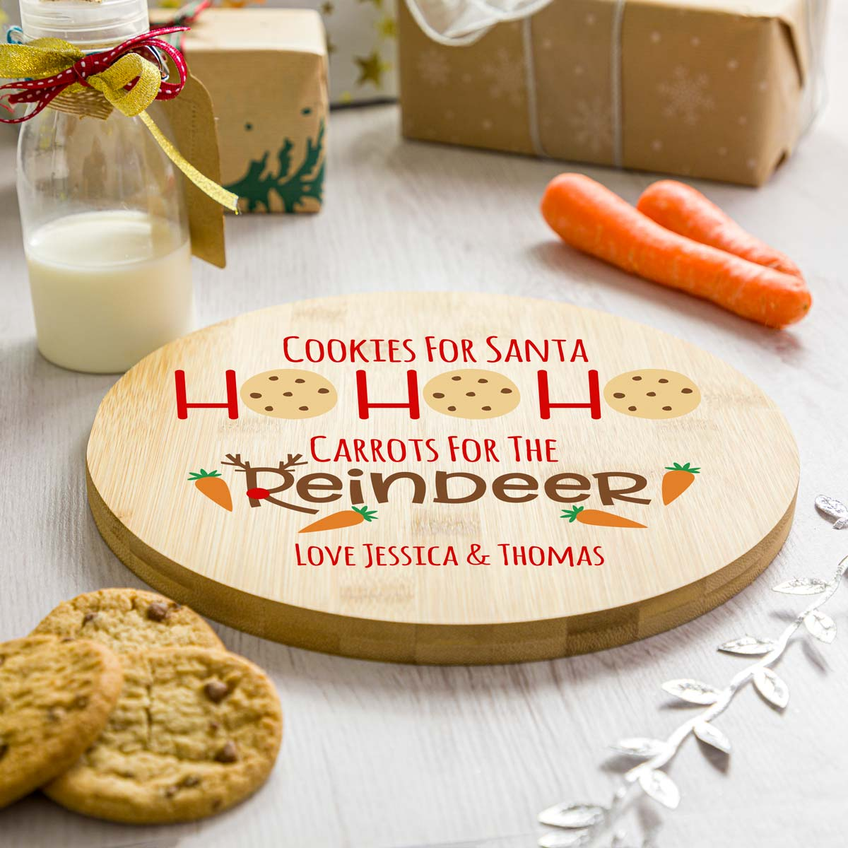 Personalised Ho Ho Ho Christmas Eve Plate