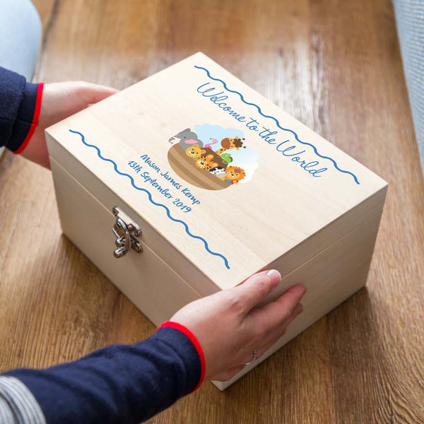 Personalised New Baby Keepsake Box Gift
